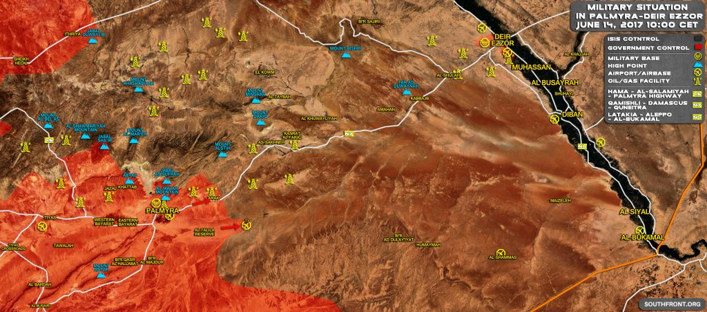 Map Update: Syrian Government Forces Breach ISIS Defense, Push To Sukhna