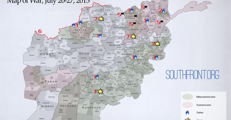 Afghanistan Map of War, July 20-27, 2015