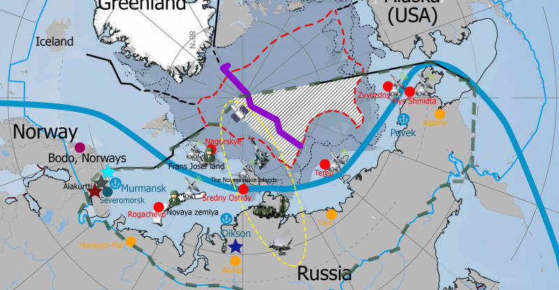 Russian Arctic Military Map