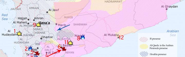 Yemen Map of War, August 15-23, 2015