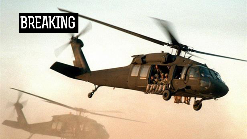 Breaking: US Military Helicopter Crashes Near Syrian-Iraqi Border. Casualties Reported