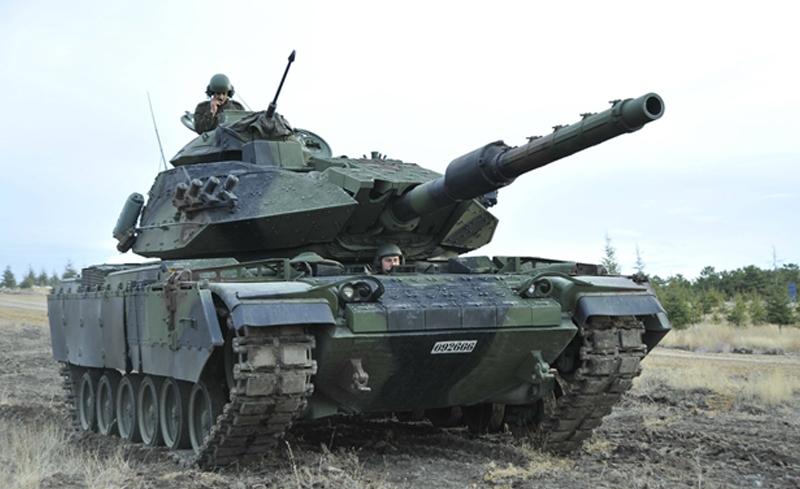 A modernized M-60T (Sabra Mk. II) on maneuvers.