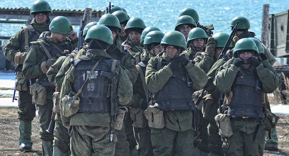 Russian troops that are staying in Syria