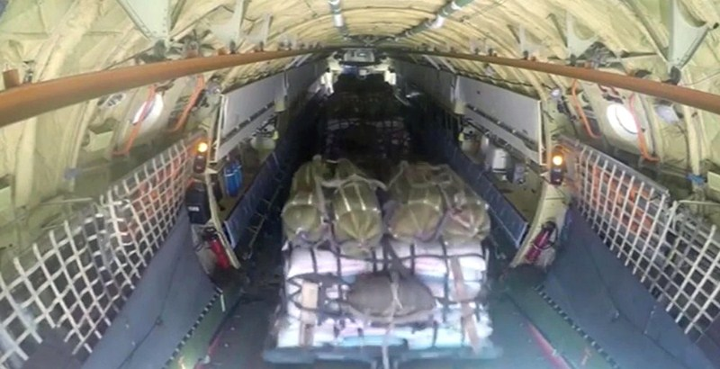 Russia airdrops 30 tons humanitarian aid into Deir Ezzur of Syria