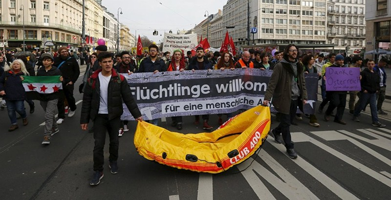 People filled streets of Europe to dissent EU-Turkey refugee deal