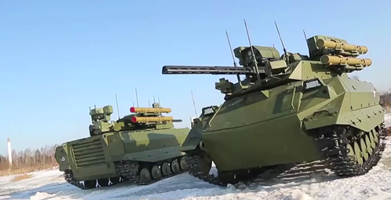 Deadly new army robots unveiled in Russia (Video)