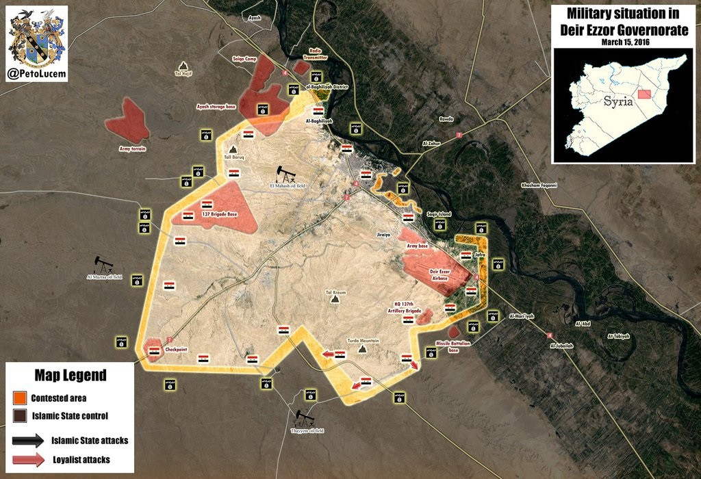 Map: Military Situation in Deir Ezzor Governorate