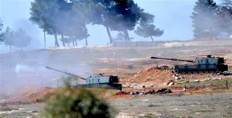 Turkey shells in Aleppo of Syria: YPG