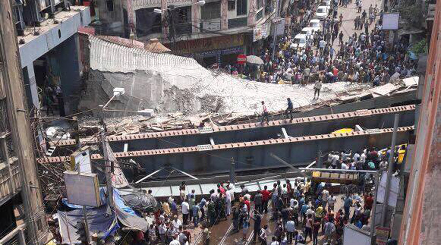 Under-Construction Bridge Collapses in Kolkata, India. 10 Killed (Photo, Video)
