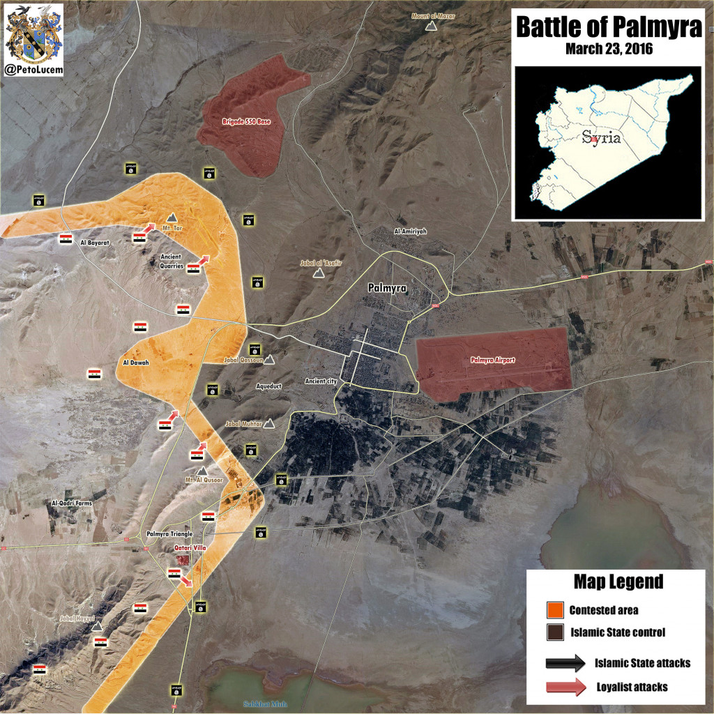 Battle for Palmyra / Tadmur on March, 23