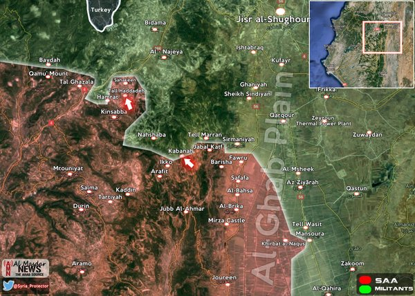 Syrian Army takes control of Tall Hadadeh, advancing in Lattakia