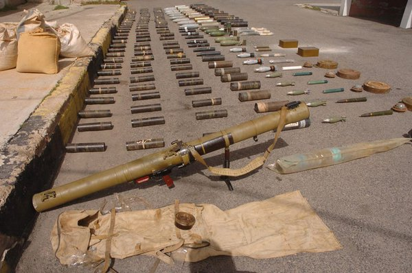 Syria's Forces Seized Rockets and half a ton of TNT from Militants in Southwestern Al Sweida Countryside  (Photos)