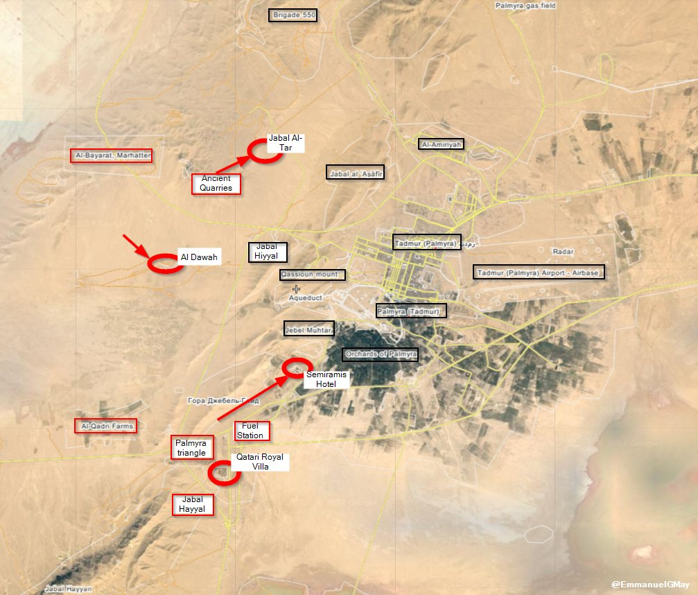 Map: Battle for Palmyra Mar.25. Syria's Forces Encircle ISIS