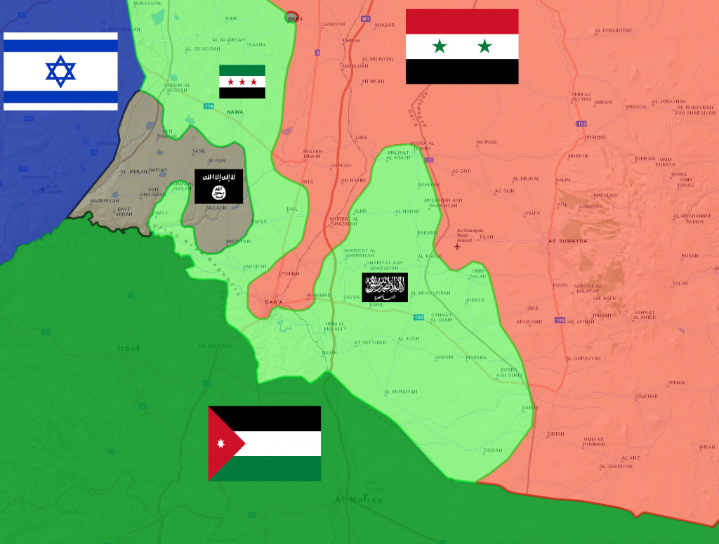 Map: ISIS Gains Ground in Southern Syria