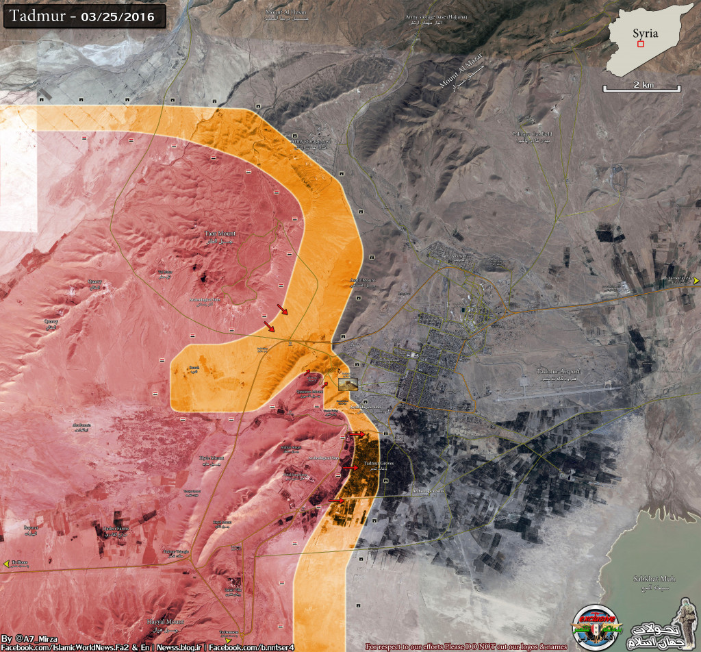 Syrian army liberates strategic areas in Palmyra