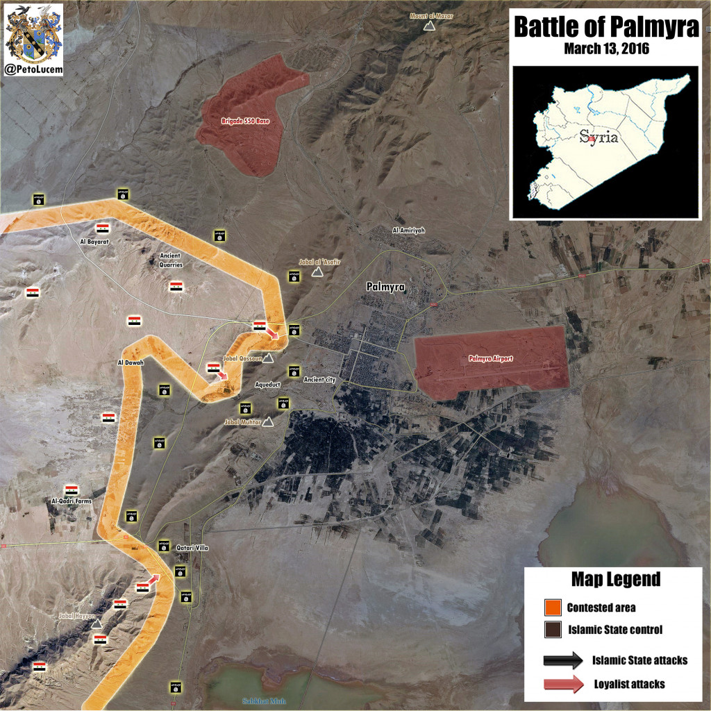 Syria's Forces Move Closer to Palmyra