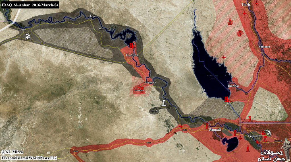 Map: Military Situation in Anbar Province of Iraq