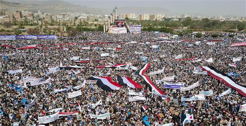 Thousands Yemenis rallynationwide against Saudi aggression