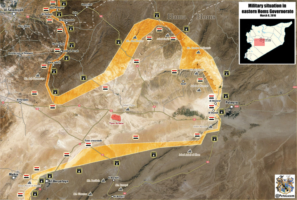 Map: Military Situation in Eastern Homs on Mar.6
