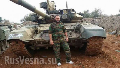 TOW-2A-damaged T-90 displayed