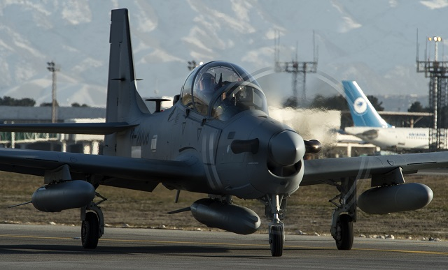 Afghanistan Receives the First Embraer A-29 Super Tucano