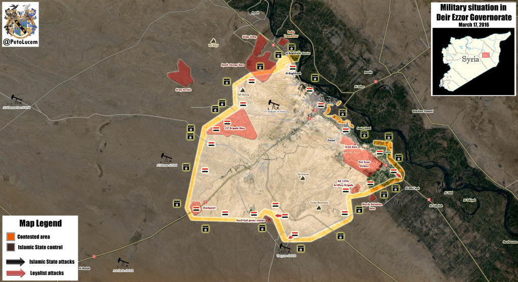 MAP: Military situation in DeirEzzor Governorate, Syria
