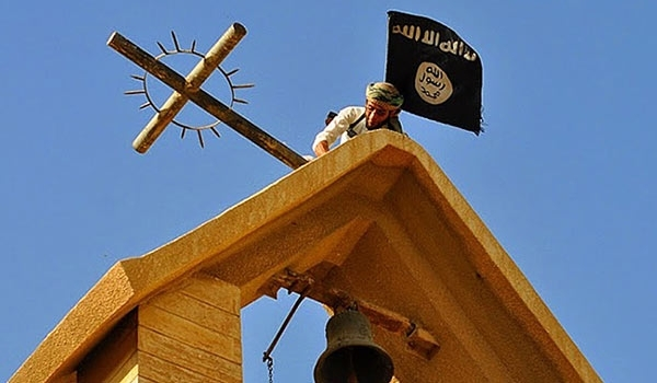 ISIS destroyed a historical Clock Church in Iraq's Nineveh Province