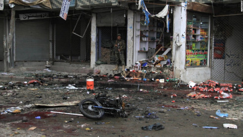 14 killed when a suicide bomber detonated in a popular restaurant in Iraq