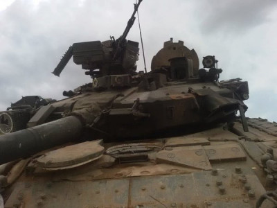 Another T-90 survives a missile hit in Syria