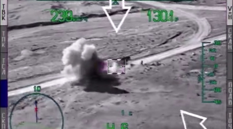 Russian Mi-28 Helicopters Smash ISIS Targets in Syria (Videos)