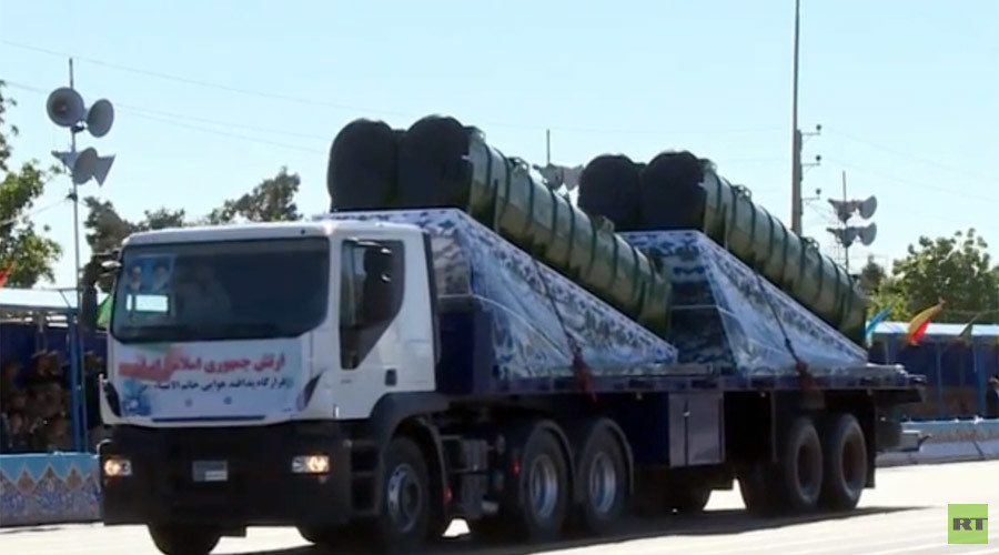 Russian S-300 SAM Missile at Military Parade in Iran (Video)