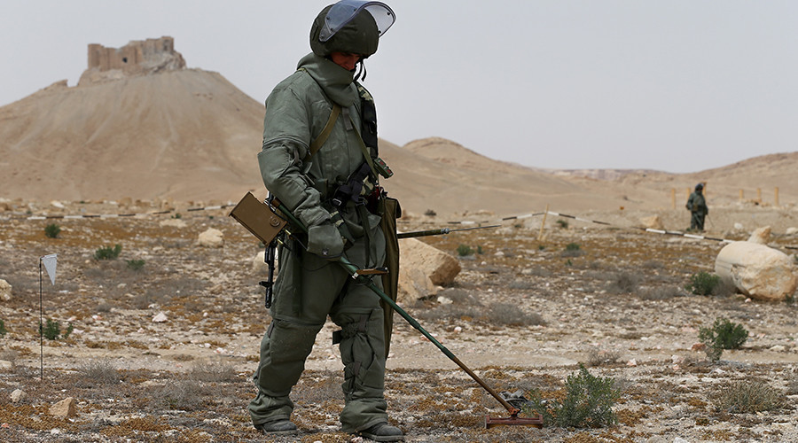 Russian Specialists Remove All Mines in Historic Palmyra