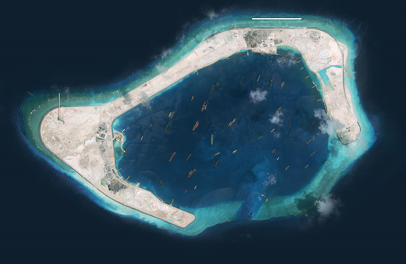 China's development of Subi Reef in recent years