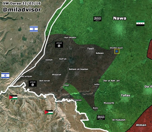 Map: FSA & Allied Militants Advance on ISIS in Syria's Daraa Province