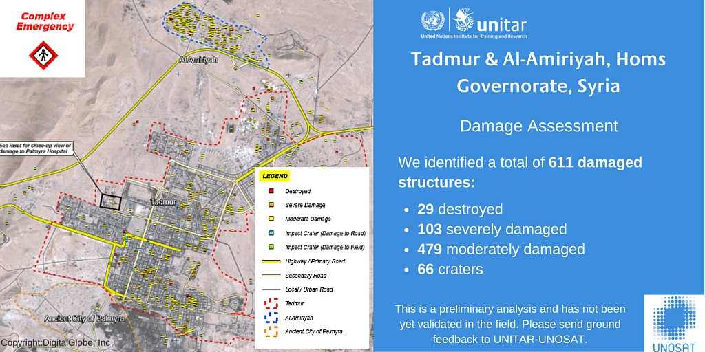 Map: Damage Assessment of Palmyra, Syria