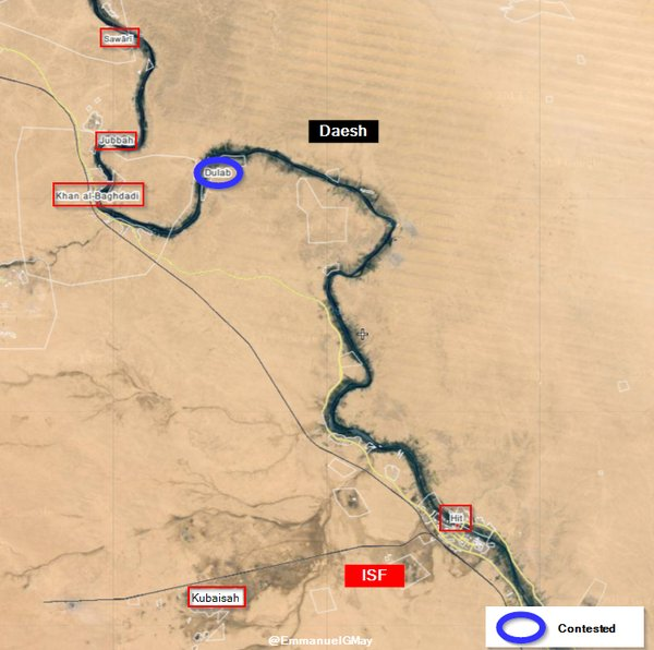 Map: Military Situation in Iraq's Anbar Province on April 25