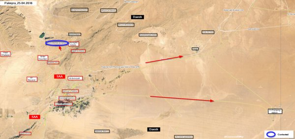 Syria's Forces Advancing in Eastern Homs Province