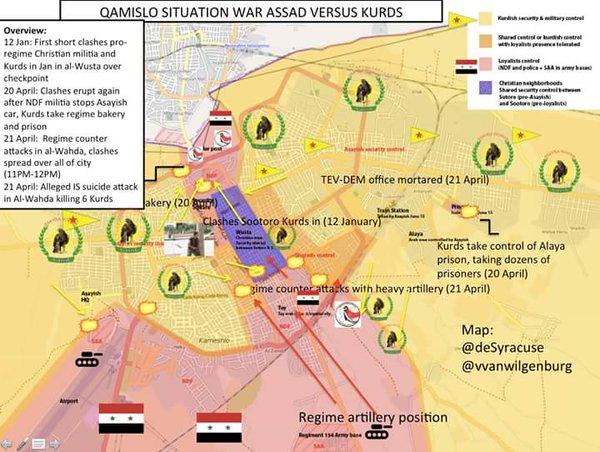 Situation In Qamishli In Northeastern Syria Clashes Between Kurds - Qamishli map