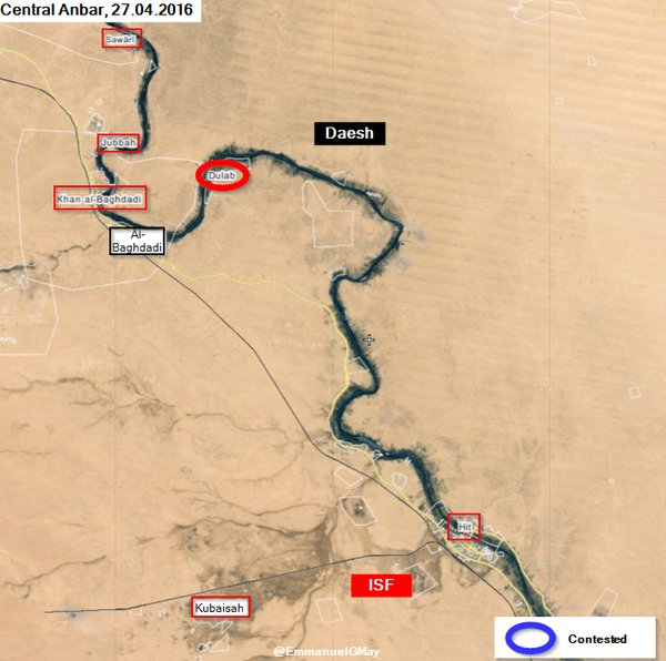 Map: Military Situation in Iraq's Anbar Province on April 27