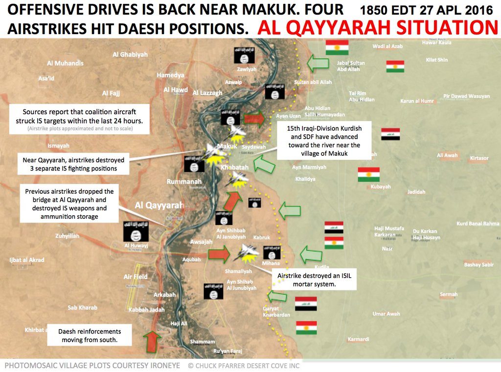 Military Situation In Al Qayyarah Iraq - Map of iraq us military bases