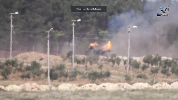 ISIS Claims to Destroy 2 Turkish Tanks, 1 Howitzer Near Syrian Border (Video)