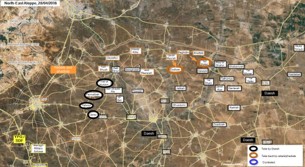 Military Situation in Syria's Northeastern Aleppo on April 28