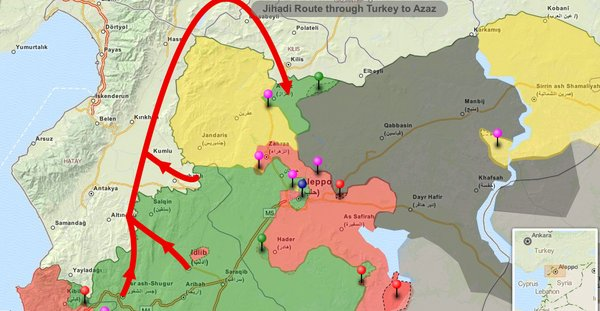 Turkey Transfer Jihadis from Idlib to Northern Aleppo in Syria