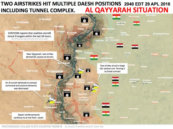 Military Situation in Iraq's Al Qayyarah on April 29