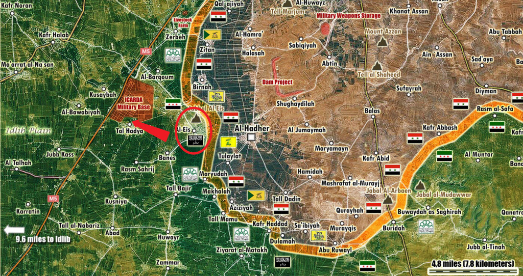 Map: Syria's Army Liberates Al Eis in Aleppo Governatore