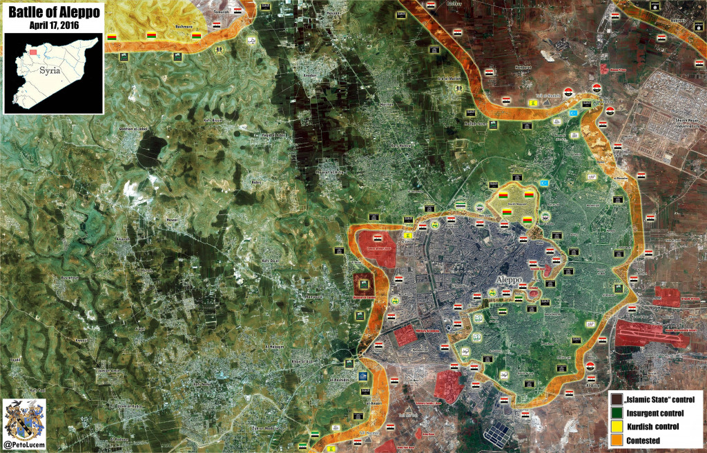 Map: Military Situation in Aleppo City on April 17