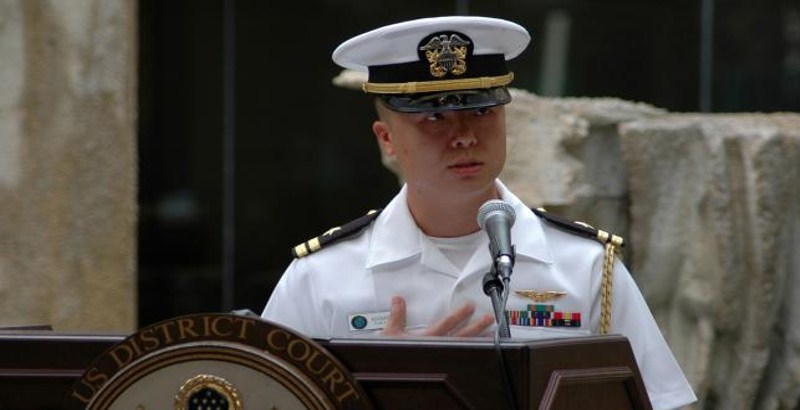 A U.S. Navy officer charged with spying for China, Taiwan