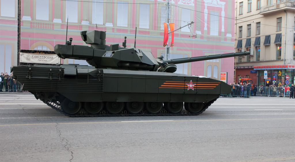 Russia's T-14 Armata Battle Tanks Undergoing Operational Evaluation in Combat Units