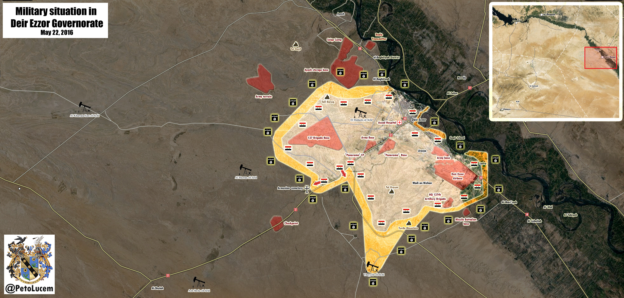 Military Situation in Deir Ezzor, Syria on May 22