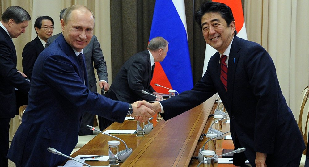 Russia's President Meets with Japanese Prime Minister in Sochi